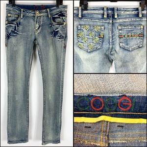 Coogi Jeans Women's Size 11 12 Slim Skinny Shield